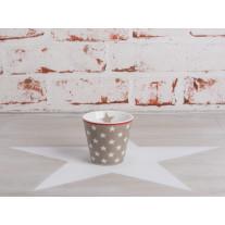 Krasilnikoff Espresso Tasse Sterne taupe