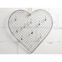 IB Laursen Herz mit 10 Clips