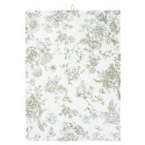 IB Laursen Geschirrtuch Blumen Grün
