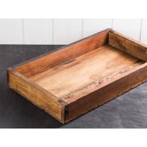"""IB Laursen Tablett Holz """"Kiste"""" 43 cm Unikat"""