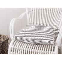 IB Laursen Sitzkissenbezug Streifen schwarz/creme