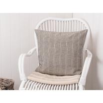 IB Laursen Kissenbezug grau/creme gestreift 50x50