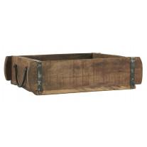 IB Laursen Ziegelform Kiste mit Henkeln Holz UNIKA 25x30
