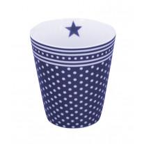 "Krasilnikoff Happy Mug Becher ""Micro Dots"" blau"