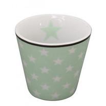 Krasilnikoff Espresso Tasse Sterne grün