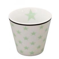 Krasilnikoff Espresso Tasse Sterne weiß / grün