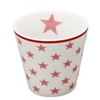 Krasilnikoff Espresso Tasse Sterne weiß / rosa