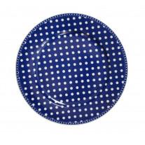 Krasilnikoff Essteller Punkte dunkelblau