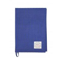 Krasilnikoff Geschirrtuch Micro Punkte dunkelblau