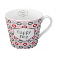 Krasilnikoff Tasse Happy Cup Happy Day Herzen