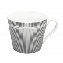 Krasilnikoff Happy Cup Becher Nadelstreifen grau