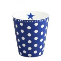 Krasilnikoff Becher Happy Mug Punkte dunkelblau