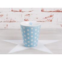 Krasilnikoff Happy Mug Becher Punkte hellblau