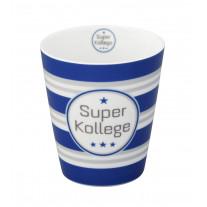 Krasilnikoff Becher Happy Mug Super Kollege blau