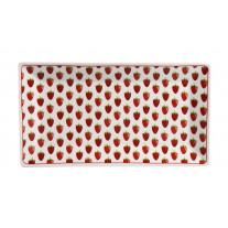 Krasilnikoff Tablett Teller Erdbeeren