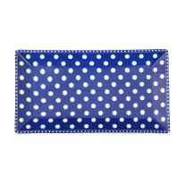 Krasilnikoff Tablett Teller Punkte Blau