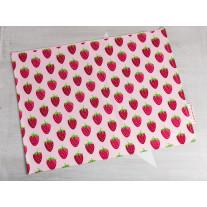 Krasilnikoff Tischset Erdbeeren Rosa