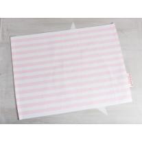 Krasilnikoff Tischset Streifen rosa