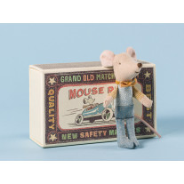 Maileg Maus in Box Kleiner Bruder mit Fliege