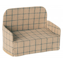 Maileg Sofa Couch in Creme mit Karo Muster