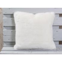 Pad Kissen SHERIDAN Fellkissen Weiß 45x45