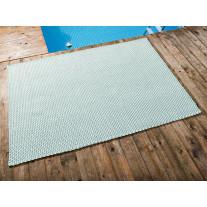 Pad Outdoor Teppich POOL Opal Türkis / Weiß 140x200 cm