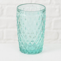 Trinkglas Milano 300 ml Rauten türkis