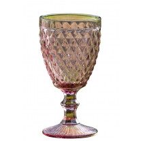 Weinglas Milano 250 ml Rauten rosa