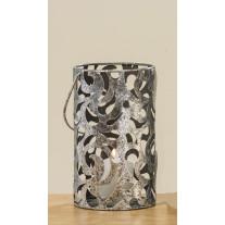 Windlicht Cahaja Antik Silber 22 cm