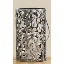 Windlicht Cahaja Antik Silber 28 cm