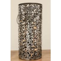 Windlicht Cahaja Antik Silber 60 cm