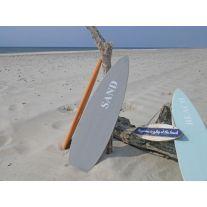 Schild SURFBOARD Grau 15x60