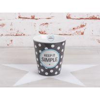 "Krasilnikoff Happy Mug Becher ""Keep it simple"""
