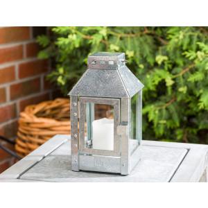 A2 Living Allwetter Laterne Micro Zink wetterfeste Outdoor Laterne verzinkt rostfrei 25 cm hoch skandinavisch schlicht Dekoration