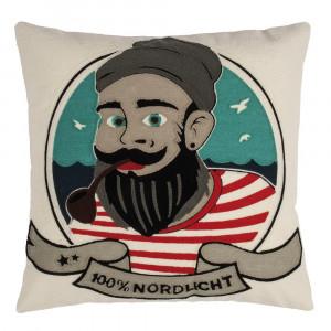 Pad Kissen Sailor natur 100% Nordlicht Kissenhülle maritim mit Seemann von Pad Concept
