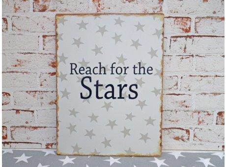 "Metallschild ""Reach for the Stars"""