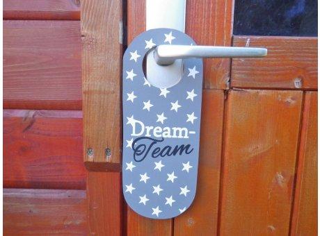 Türschild - Dream Team - mit Sternen