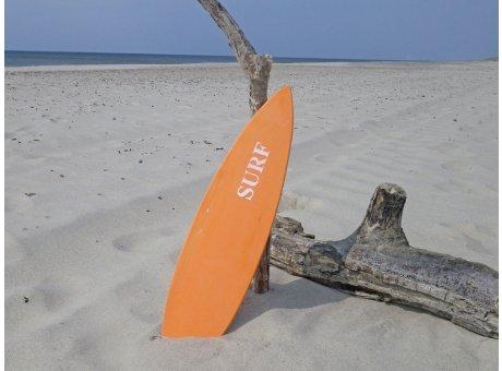 Schild SURFBOARD Orange 15x60