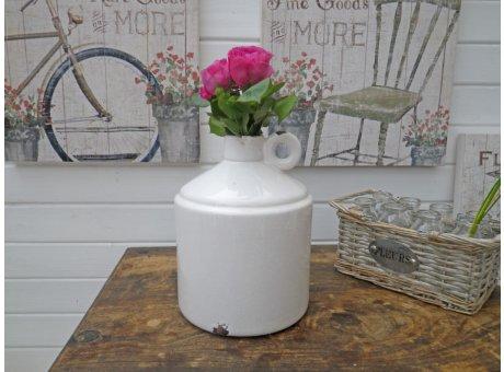Vase Flasche Gustavson weiß