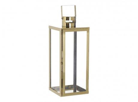 A simple Mess Laterne Skarv aus Edelstahl in gold Windlicht