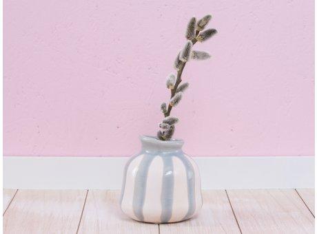 A Simple Mess Vase Lyst weiß orange grau Keramik Blumenvase 10 cm hoch Design Louise Dorph Dänemark
