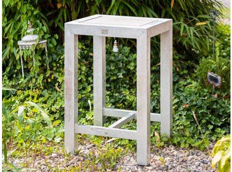 A2 Living Allwetter Bistro Tisch 1er aus Metall verzinkt 67 x 67 cm 100 cm hoch rostfreie Gartenmöbel mit Beton Tischplatte Wetterfest schwere Qualität für Terrasse und Balkon