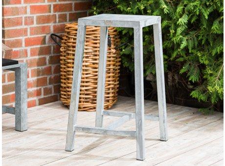 A2 Living Allwetter Bistro Tisch flach verzinkt 88 cm hoch rostfreie Gartenmöbel aus Metall mit Beton Platte Wetterfest schwere Qualität für Terrasse und Balkon