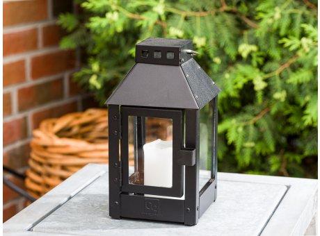 A2 Living Allwetter Laterne Micro Schwarz wetterfeste Outdoor Laterne verzinkt und pulverbeschichtet rostfrei 25 cm hoch skandinavisch schlicht Dekoration