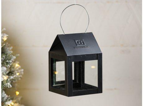A2 Living Hängelaterne Schwarz Matt 8 cm breit 12 cm Mini Laterne für Teelicht Deko für den gemütlichen Winter