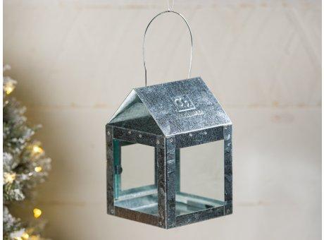 A2 Living Hängelaterne Verzinkt 8 cm breit 12 cm Mini Laterne für Teelicht Deko für den gemütlichen Winter