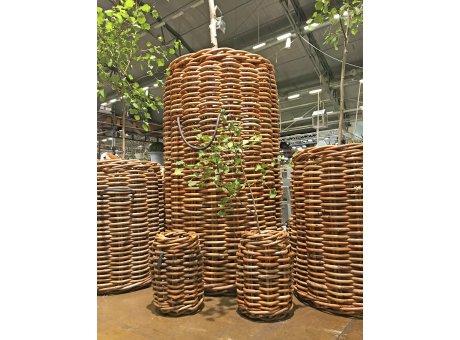 A2 Living Rattan Korb Mammut 150 cm hoch XXL Korb fuer Pflanzen und Bäume