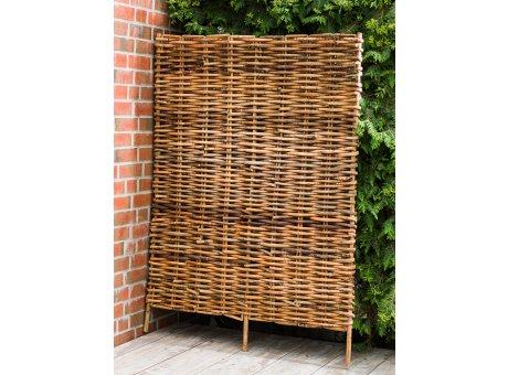 A2 Living Rattan Zaun geflochten 120x150 cm Gartenzaun Sichtschutz für Garten oder Balkon Weidenzaun robust