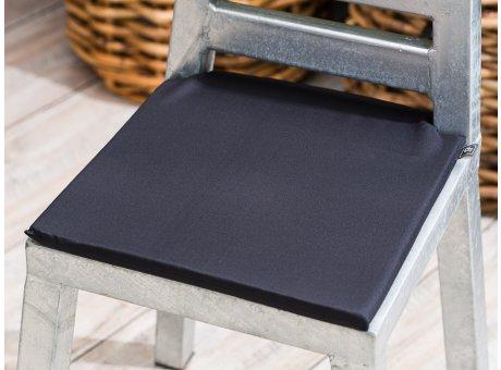 A2 Living Sitzkissen Baumwolle schwarz anthrazit mit Schaumstoff Füllung 34 x 34 cm Bezug mit Reißverschluss waschbar