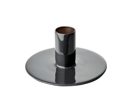 Affari Kerzenhalter RIVER Dunkelgrau Kerzenständer aus Metall Grau Rund 10 cm für 1 Kerze Affari of Sweden Modell Nummer 797-263-06